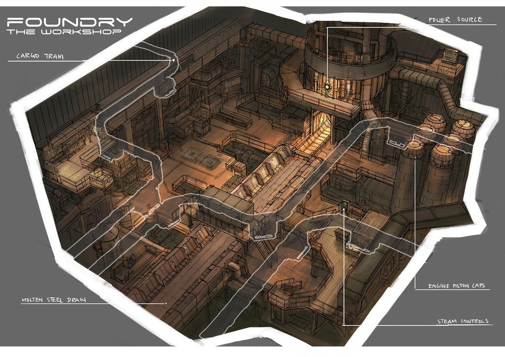 Level Design: Foundry by yongs.deviantart.com on @DeviantArt ...