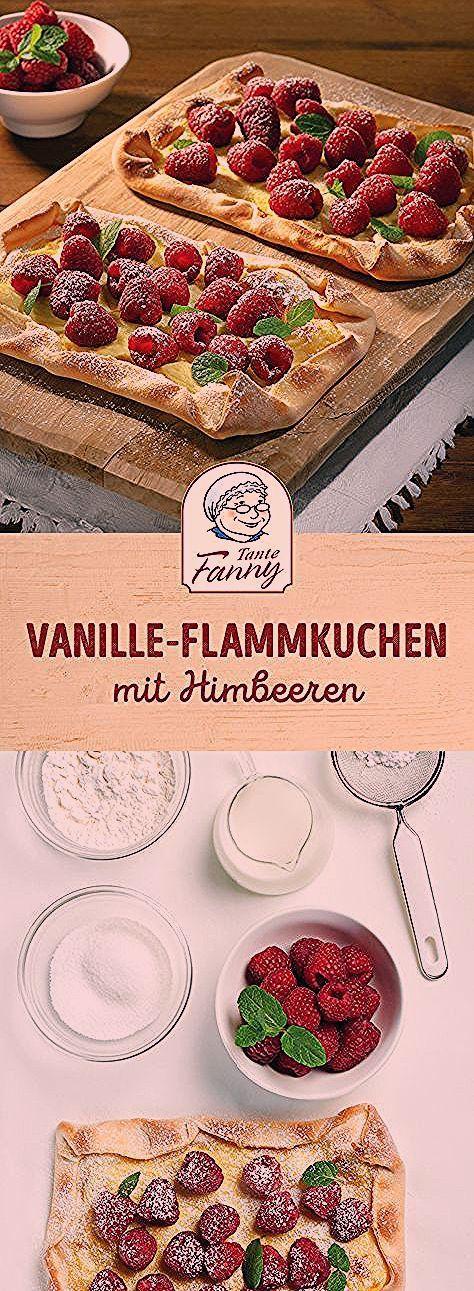 Photo of Vanille-Flammkuchen mit Himbeeren