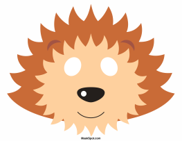 Leopard Coloring Pages Pdf : Hedgehog mask templates including a coloring page version of the