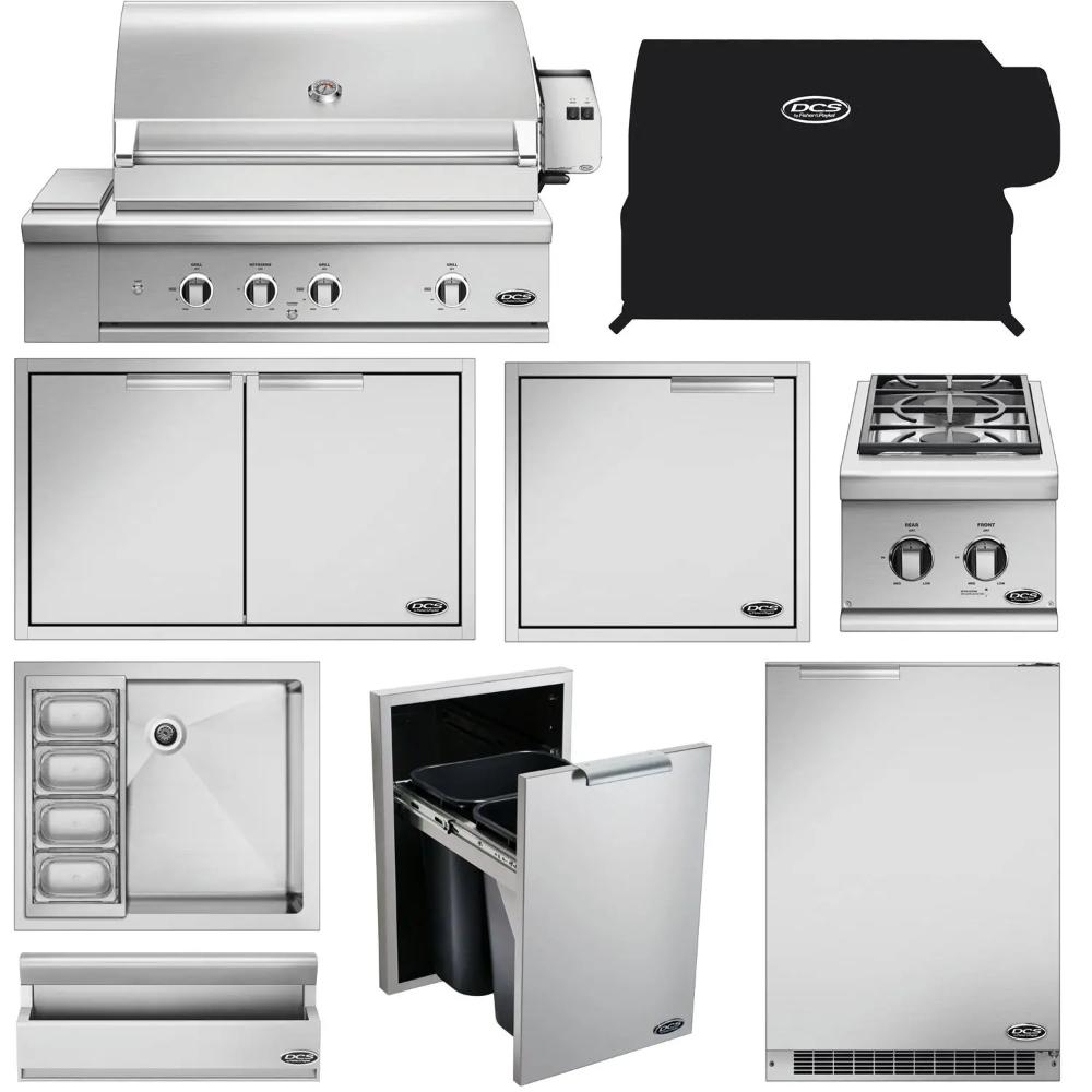 Dcs 10 Piece Series 9 36 Inch Natural Gas Outdoor Kitchen Package Bbqguys In 2020 Outdoor Kitchen Design Outdoor Kitchen Outdoor Kitchen Appliances