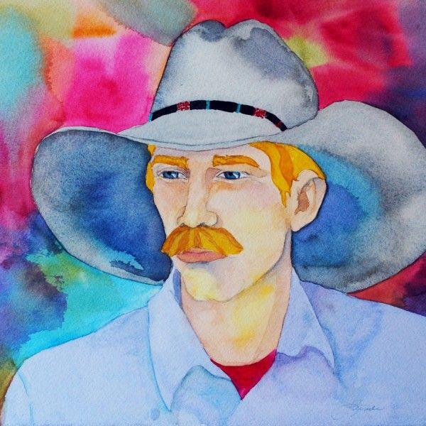 Original Western Art Watercolor luckystargallery.com $295