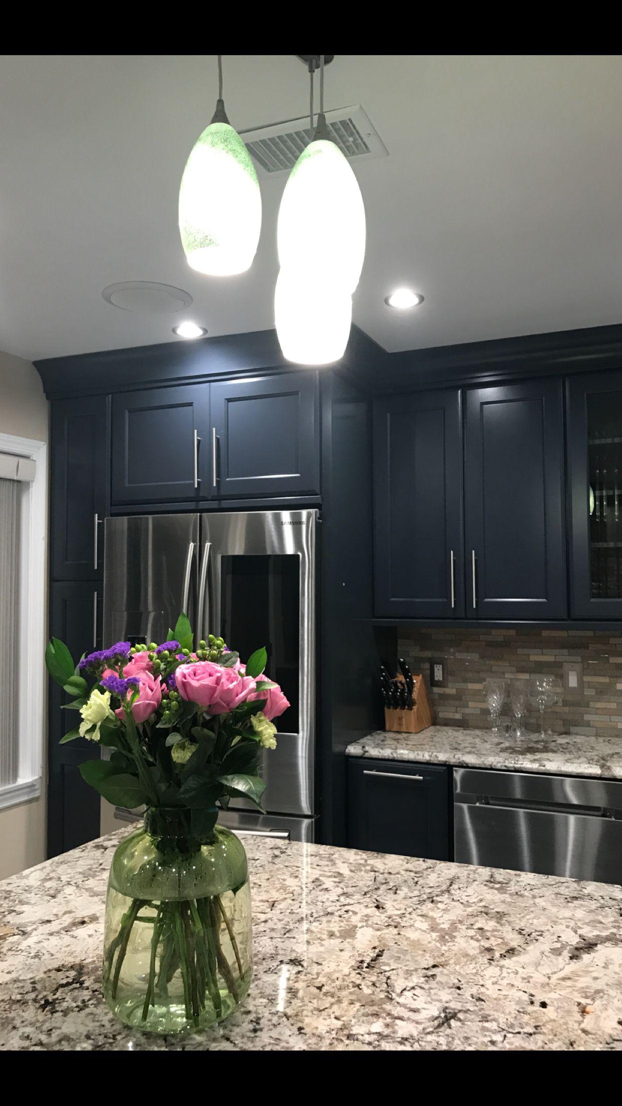 Loving My New Kitchen! Kraftmaid Midnight Kitchen Cabinets!