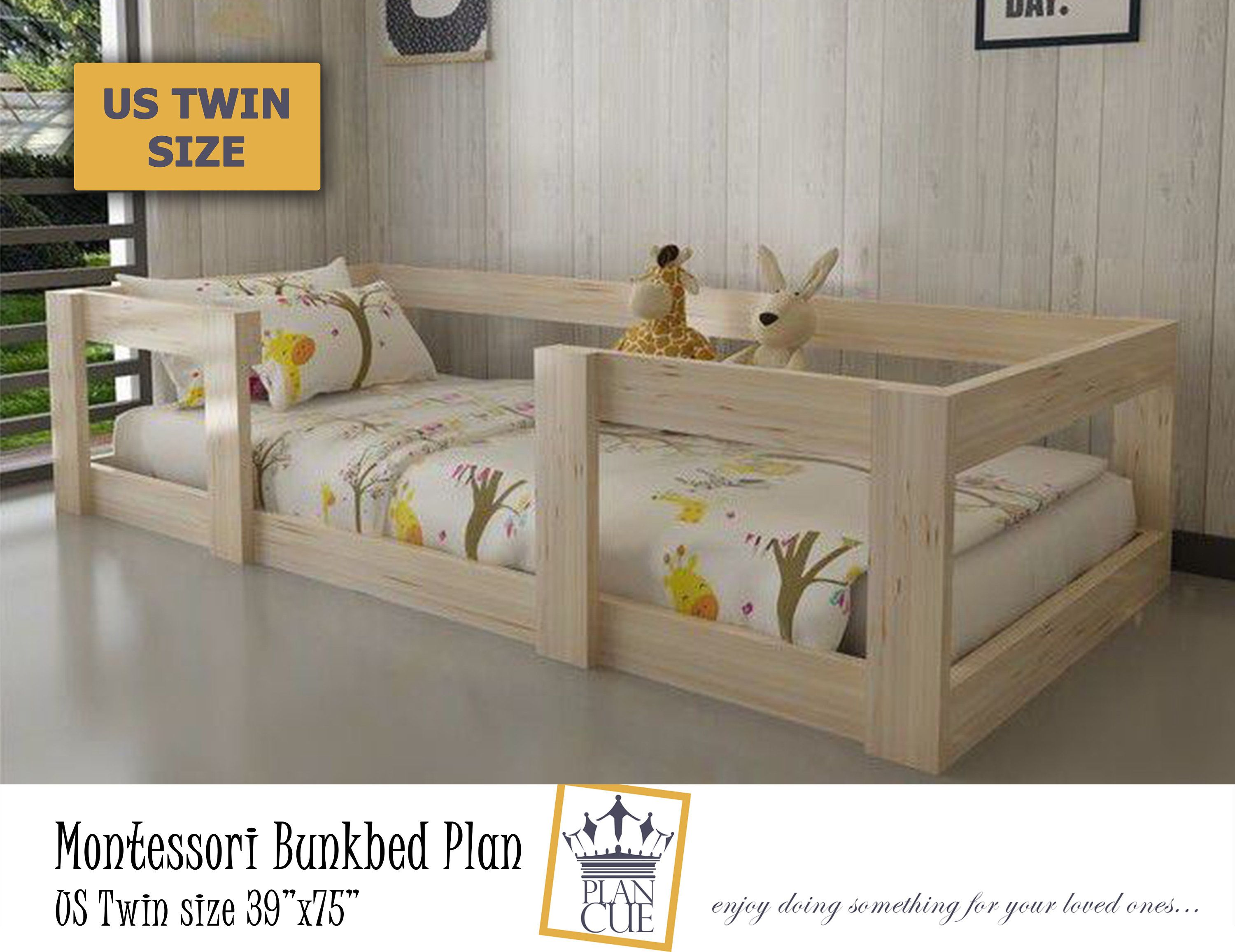 Toddler Canopy Bed Plan Montessori Bed Diy Plan Kid Bed Wood