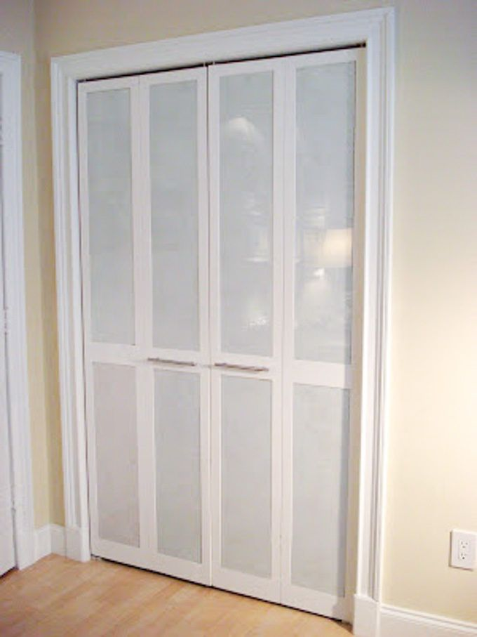 Diy Bi Fold Closet Door Makeovers Bifold Doors Makeover Closet
