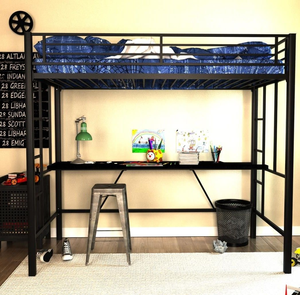 Loft bed with slide wayfair  Twin Loft Bed  Products  Pinterest  Products