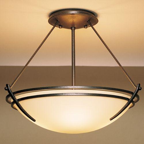 Hubbardton Forge Lighting Presidio Natural Iron Semi-Flushmount Light   124422-20-G47   Destination Lighting