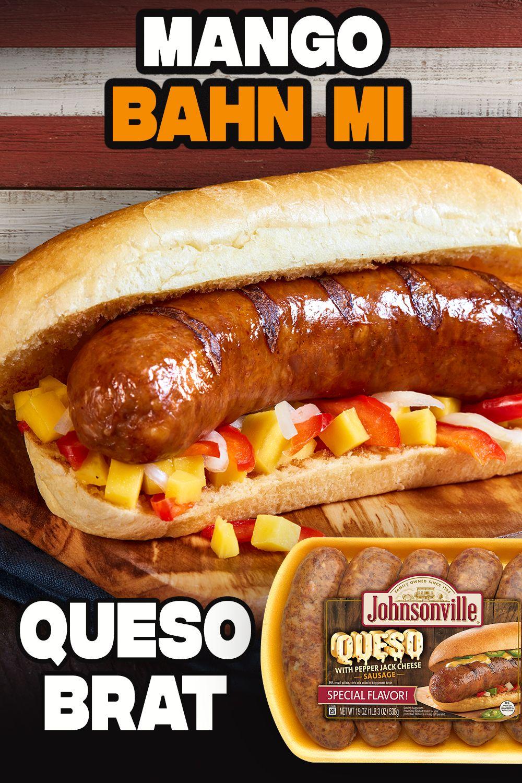 Mango Bahn Mi Queso Brat Recipe in 2020 Hot dog