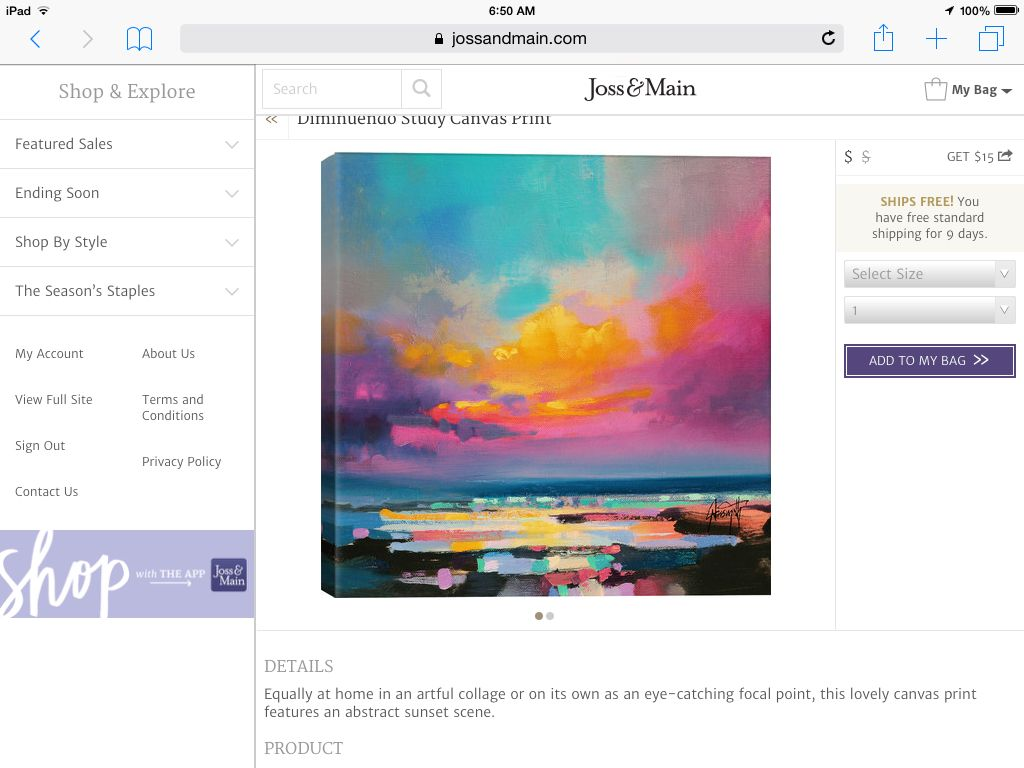 A colorful piece of artwork can inspire your color scheme