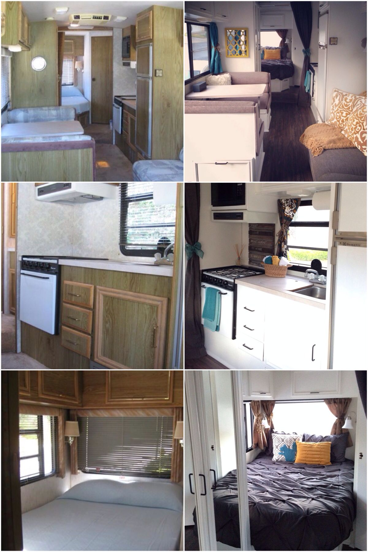 Rv Remodel 1991 Fleetwood Flair Painted Cabinets Wallpaper