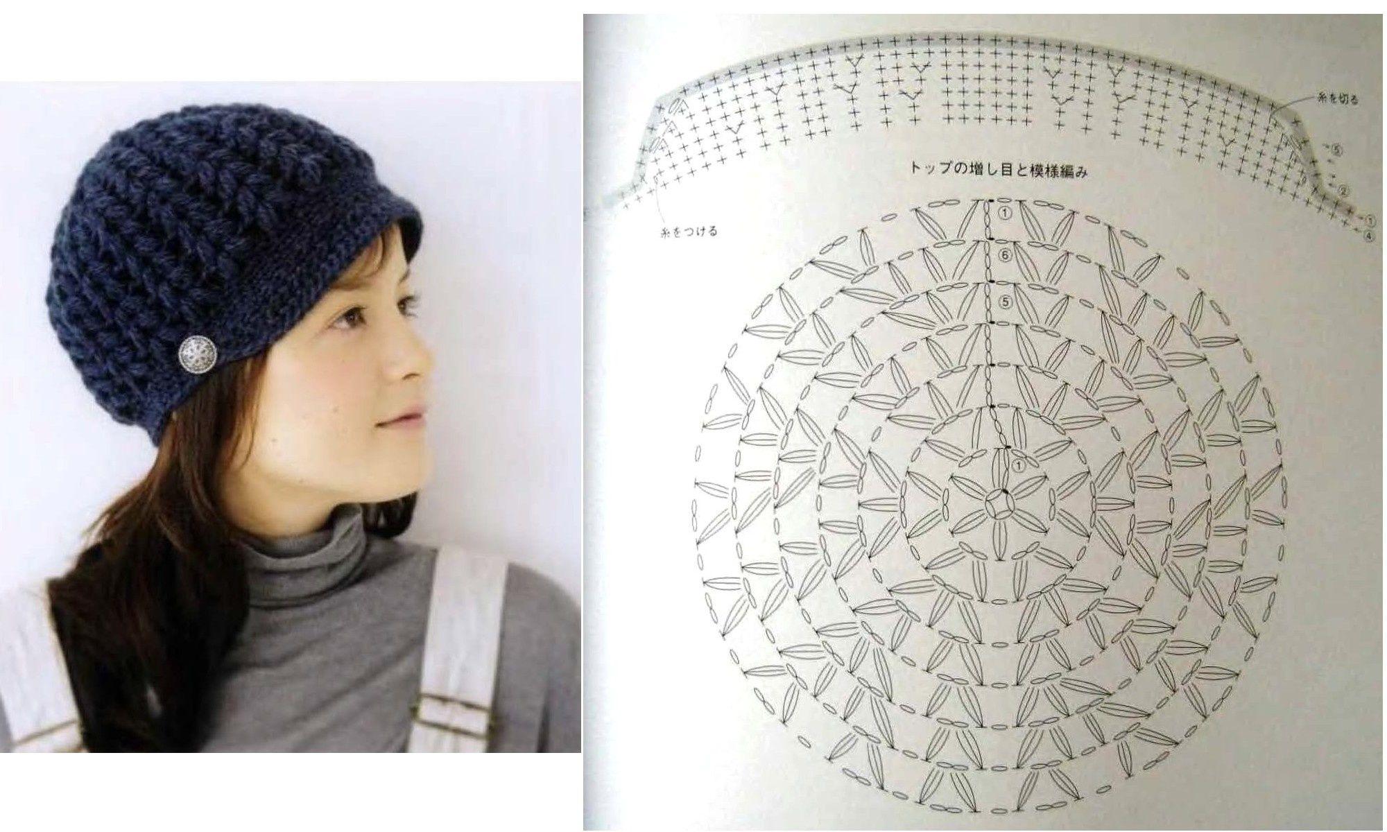 Bonnets , chapeaux et casquettes au crochet : modèles et grilles à ...