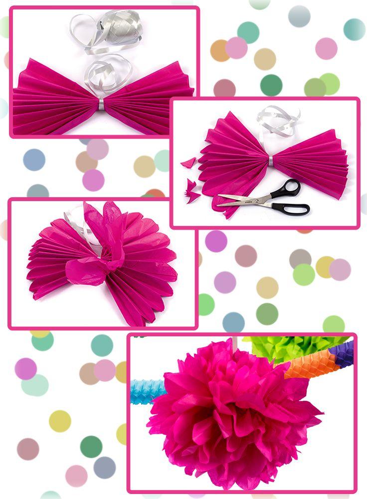 Pompons in verschiedenen farben und gr en sind eine tolle for Dekoration karneval