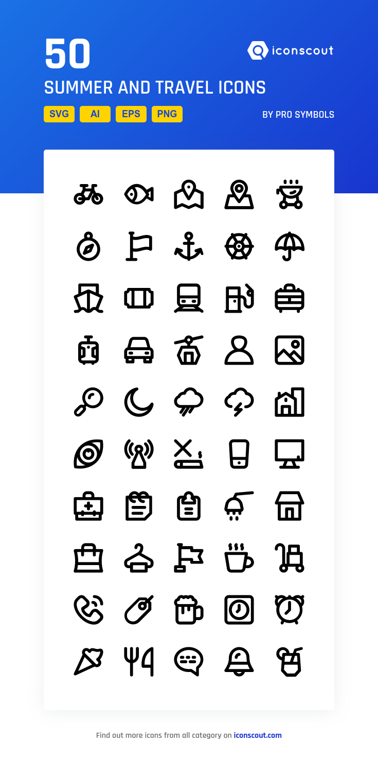 Download Summer And Travel Icon Pack Available In Svg Png Eps Ai Icon Fonts Travel Icon Icon Pack Icon