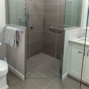Curbless Shower Build Up Not Down Bathroom Layout Small Bathroom With Shower Small Bathroom