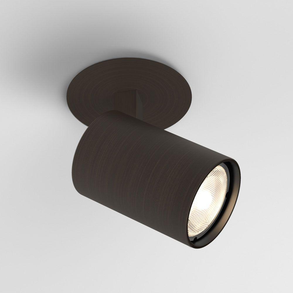 Ascoli Single Bronze Gu10 Recessed Adjustable Spotlight Ip20