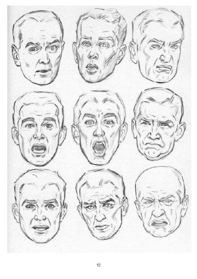 Andrew Loomis Dibujo De Cabeza Y Manos Espanol Expresiones De Dibujo Produccion Artistica Dibujos Realistas