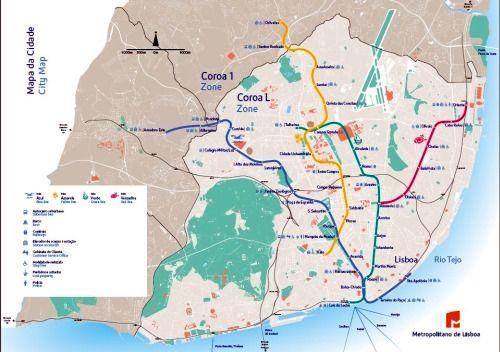 lisbon metro Metro maps Pinterest