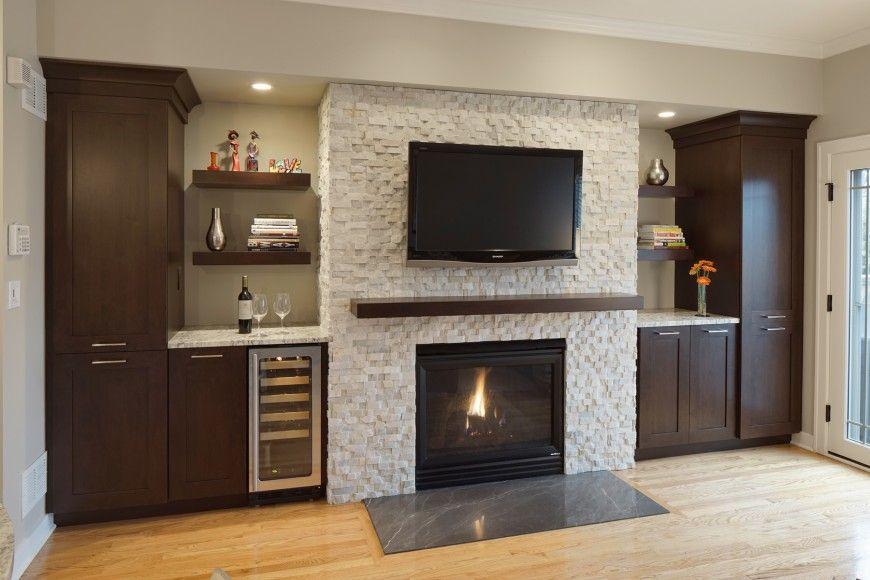 Mosaic Tile Over Brick Fireplace | Tile Design Ideas