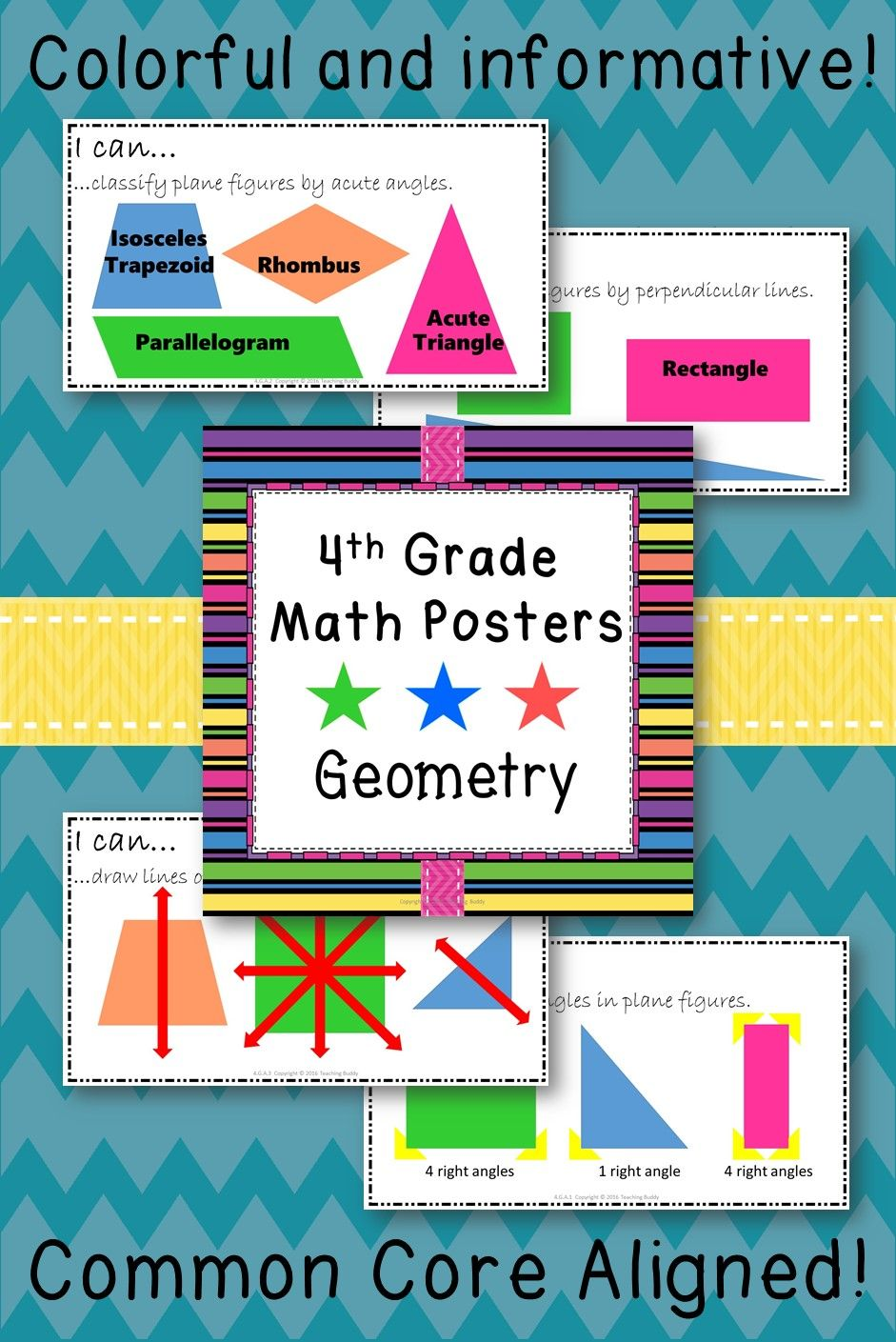 Math Posters 4th Grade Common Core Geometry Thanksgiving Math Worksheets Math Poster Common Core Geometry