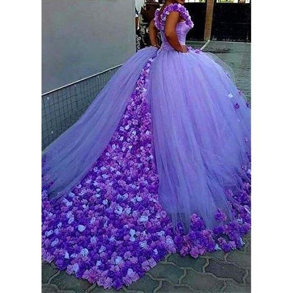 d7717d6db6b7 Attractive Tulle Off-the-shoulder Neckline Ball Gown Evening Dresses ...