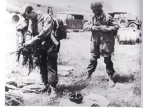 German Fallschirmjagers on Crete. While they suffered extremely high casualties, they did take control of the Island.