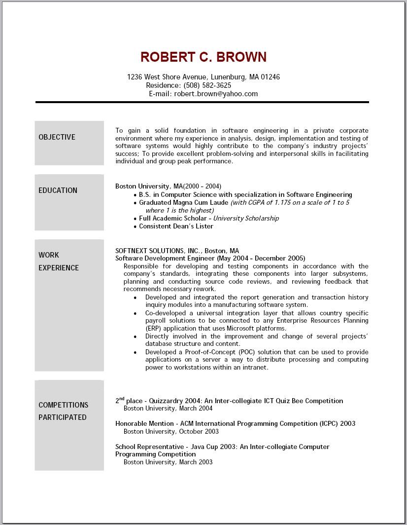 Basic Job Resume Objective Examples in 2020 Good