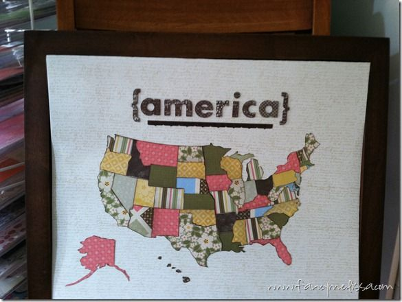 Map of America–CTMH Style - so cute to do this with a map of Canada