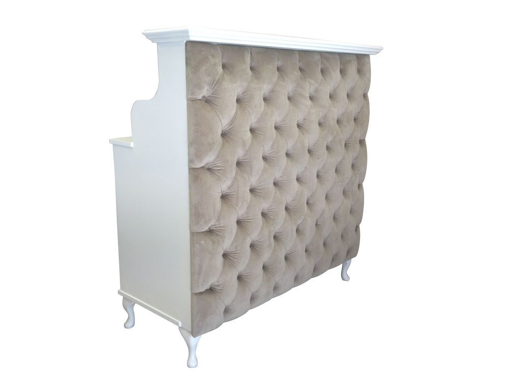 Reception desk french style shabby chic salon counter for Shabby chic salon