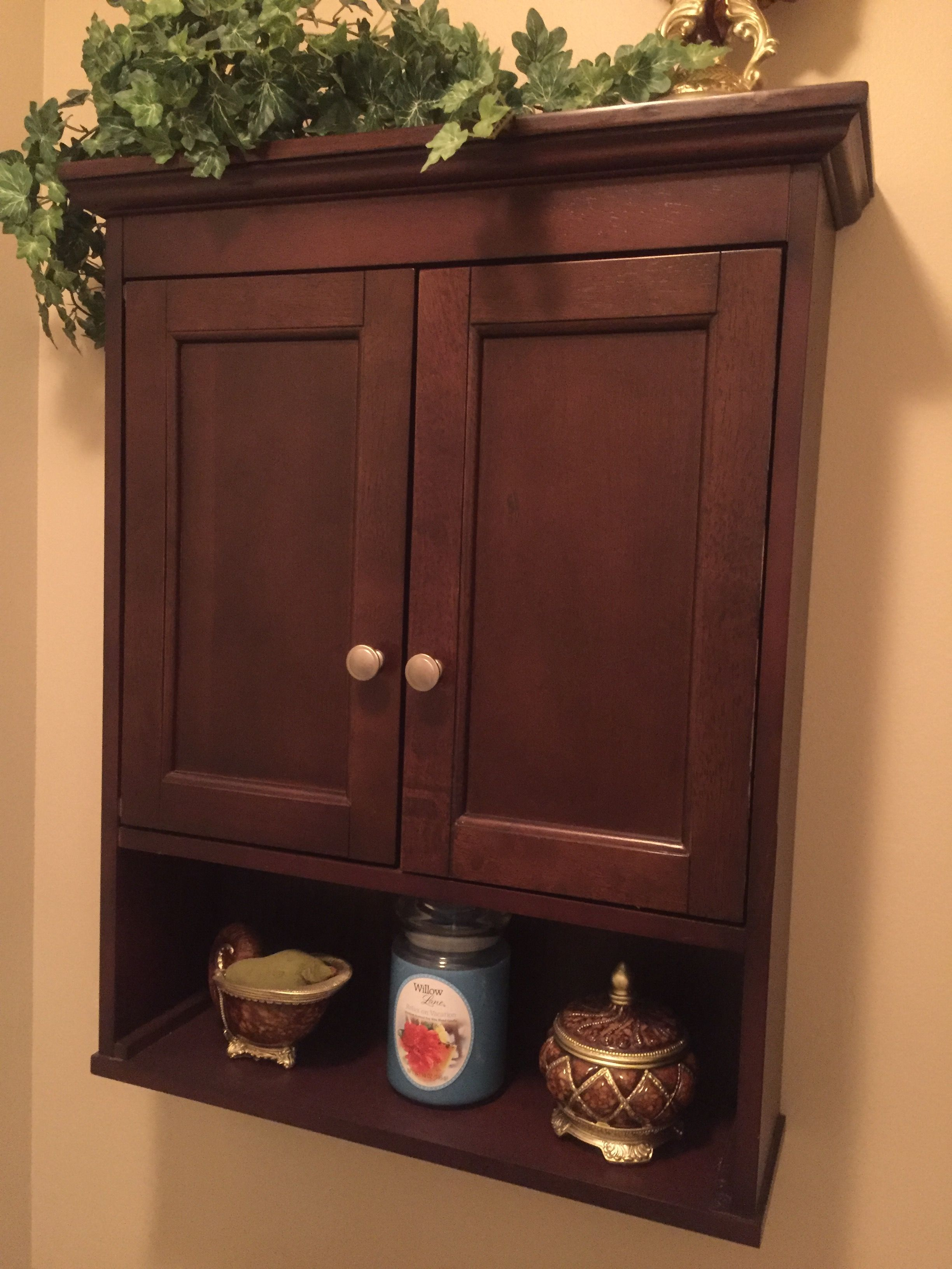 Bathroom wall cabinet, purchased on clearance for $12 ...