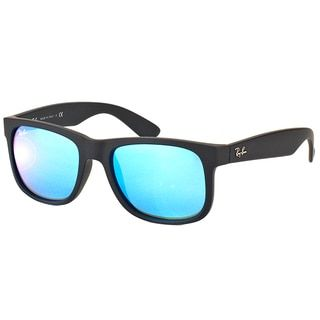 8db4f40e39a Shop for Ray-Ban Justin Color Mix RB 4165 Unisex Black Frame Blue Mirror  Lens