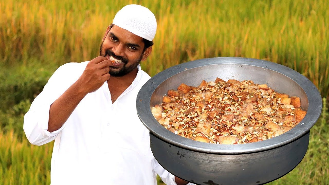 double ka meetha bread halwa recipe nawabs kitchen youtube recipes food bread on hebbar s kitchen halwa id=38071