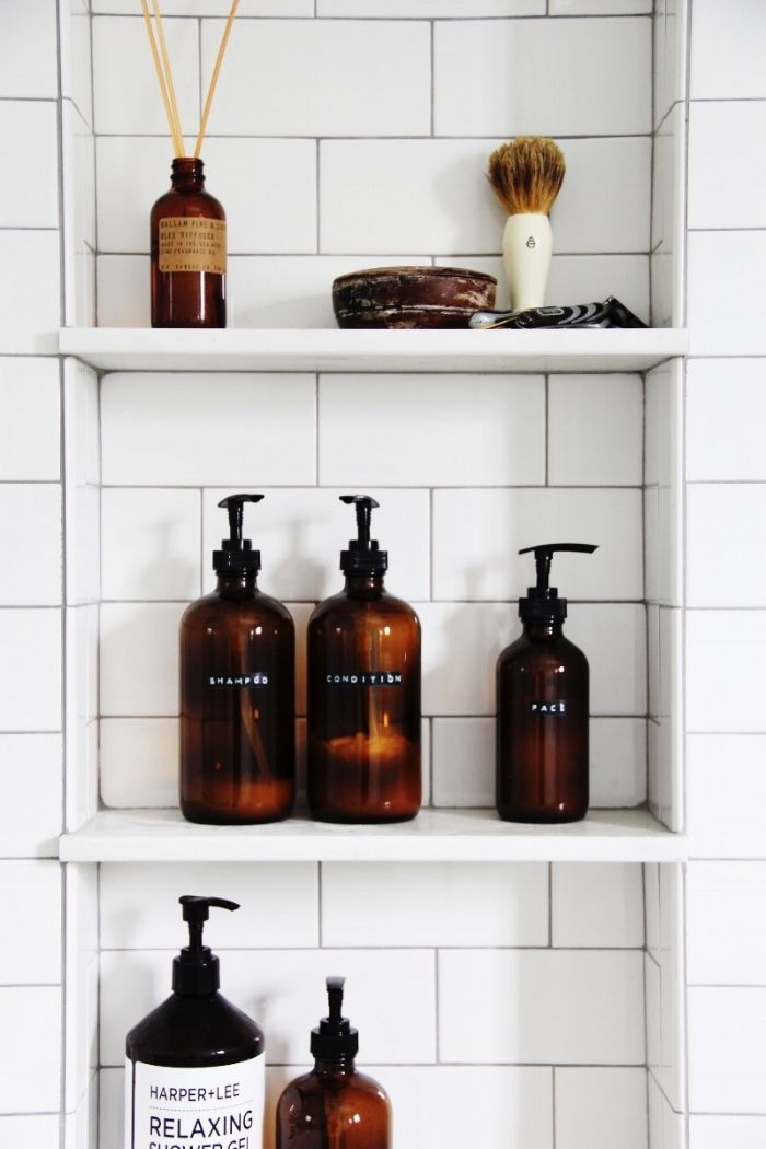 Photo of Amber shower bottle DIY — The Pastiche