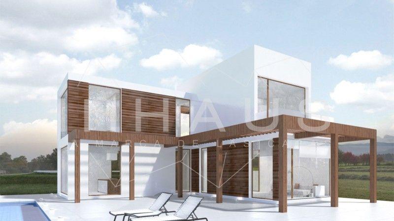 Casa prefabricada hormig n modular dise o martorell fachada minimalista inhaus cases pinterest - Casa prefabricada diseno ...
