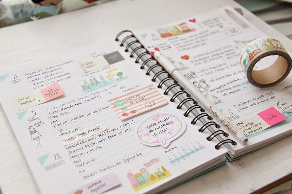 Little hannah cinco consejos para planificarte bien y decorar tu agenda manualidades - Como decorar una agenda ...