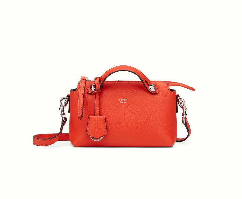 0214858b4abb Fendi By The Way Mini Boston bag in poppy red.