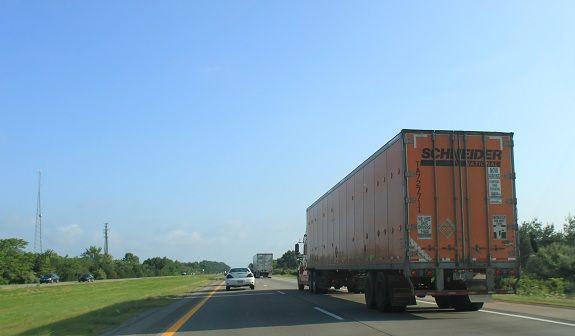 Schneider National Truck Rear View Truck Driving Jobs Trucks National