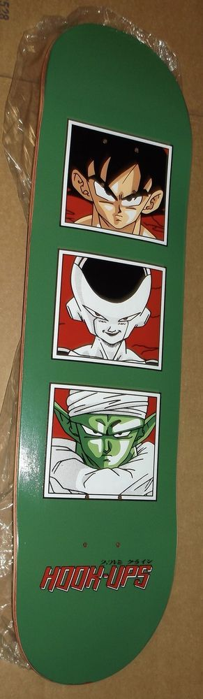 "HOOK-UPS DBZ ""DRAGON BALL Z"" ANIME SKATEBOARD DECK - HAND SCREEN PRINTED RARE  #HookUps"
