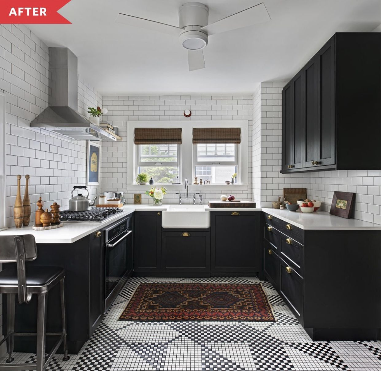 Designer Patrick Thompson Took The Kitchen In This Craftsman Style Home From Dated Dark And Very Brown To Slee In 2020 Kitchen Remodel Sleek Kitchen Kitchen Flooring