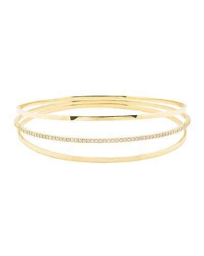 Lana Jewelry Flawless Bangles with Diamonds, Set of Two