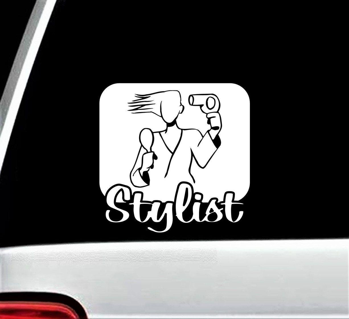 Hair Stylist Decal For Car Window Stylist Decal Sticker Etsy Salon Decals Car Decals Decal Design [ 1118 x 1226 Pixel ]