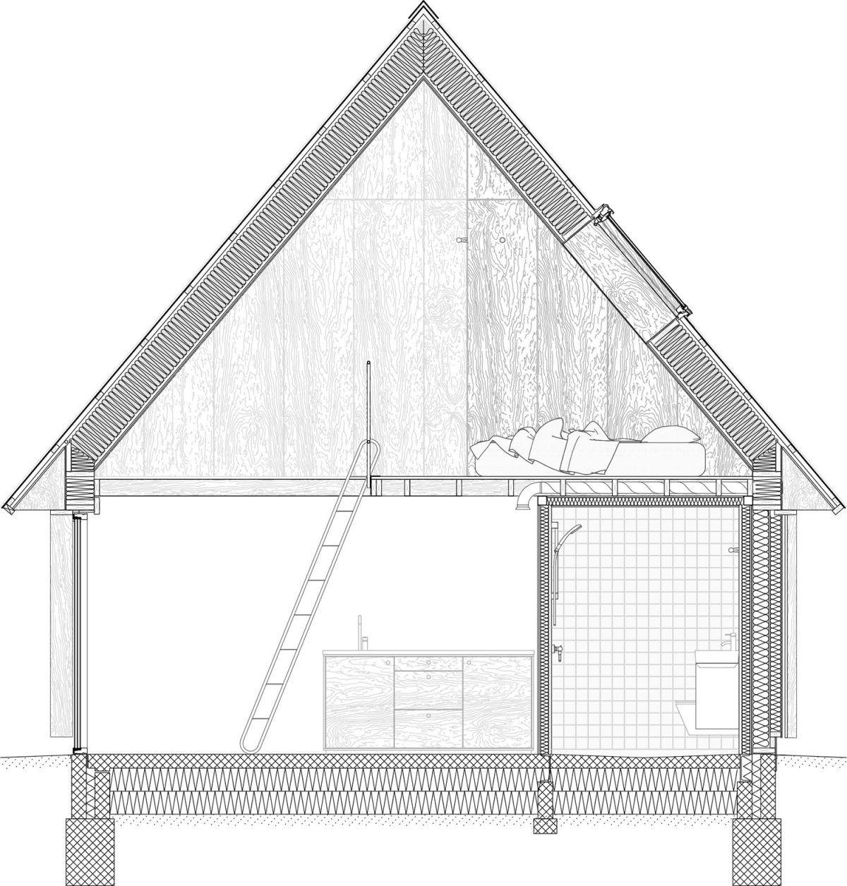 Studielandsbyen Groft Og Fint Anmeldelse Lenschow Pihlmann Roof Detail Architecture Architectural Section Roof Architecture