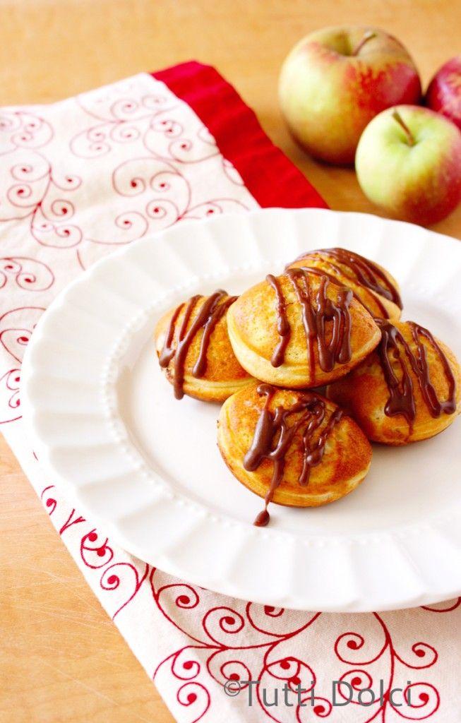 Photo of apple-chocolate ebelskivers with nutella glaze | Tutti Dolci