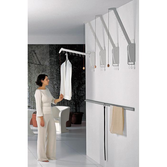 ハーフェレ ワードローブ リフトハンガー 壁付け 1アーム タイプ