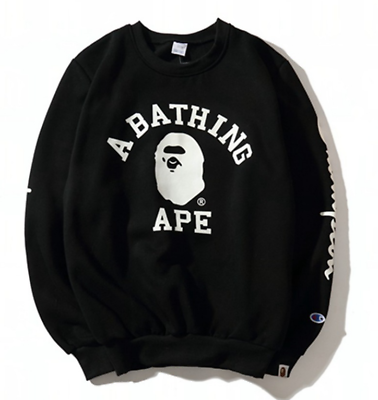 Men A Bathing Ape Bape Monkey Head Casual Hoodie Pullover Long-sleeved Sweater