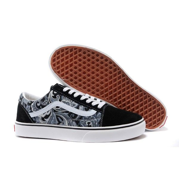 da6c8510c477e Vans Old Skool Shoes MensWomens Classic Canvas Sneakers Grey Retro Floral   vans4u3991  -  39.99