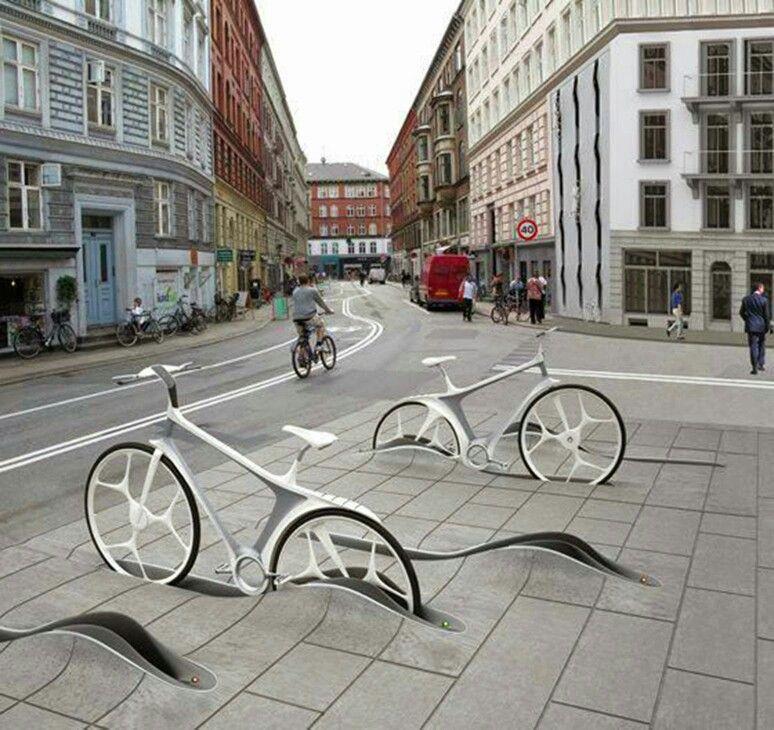In-ground bike racks