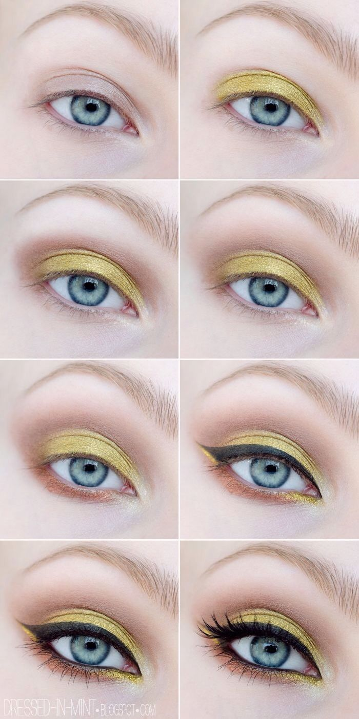 Pin by iren kos on pinterest makeup eye and makeup ideas 12 eyeshadow makeup tutorials for blue eyed ladies baditri Image collections