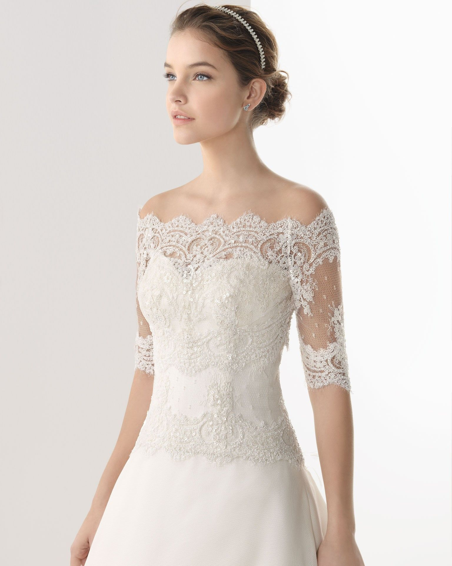 Simple And Elegant White Satin Sweetheart With Jacket: Simple Elegant A-Line Sweetheart Lace Sequins Brush Train