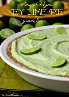 Grain Free, Dairy Free Key Lime Pie #vegan #paleo www.PrimallyInspired.com