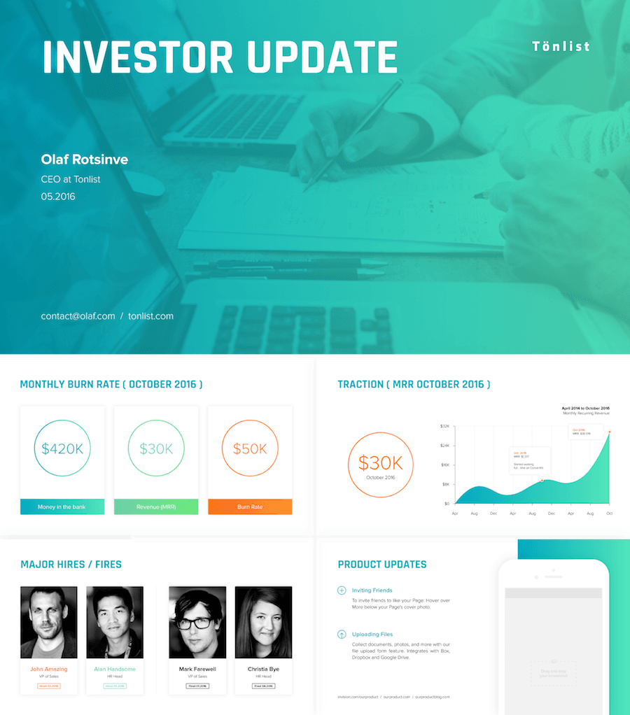 investor update powerpoint template | powerpoint | pinterest, Modern powerpoint