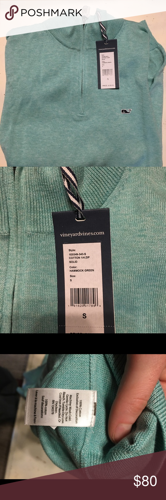 Vineyard vines cotton zip nwt nwt in my posh picks